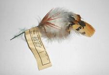 Old Hutfeder Vintage Nadler Sebnitz Handarbeit 1950er Deko Feder hat feather (17