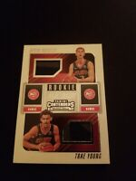 2018 Panini Contenders Dual Ticket Rookie Kevin Huerter RC & Trae Young RC Hawks