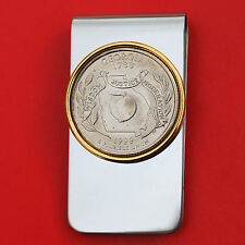 US 1999 Georgia State Quarter BU Uncirculated Coin Two Toned Money Clip New