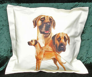 Hand Crafted Great Dane dog cushion cover