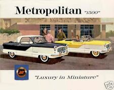 "1962 Nash METROPOLITAN 1500 ""Luxury in Miniature"" Refrigerator Magnet, 40 MIL"