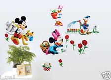MICKEY; MINNIE & FRIENDS GARDENING Kids Wall sticker for Kids room or Nursery