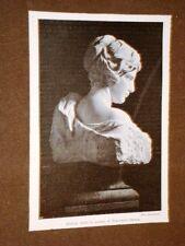 Hadria Busto in marmo di Francesco Jerace