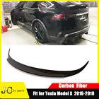 For for Tesla Model X Sedan 2016-2018 Rear Trunk Spoiler Wing Carbon Fiber Refit
