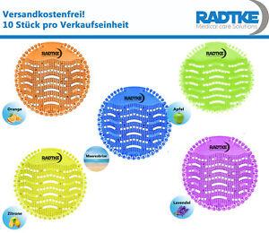 10 Stück Urinalsieb WC Duftspüler Urinaleinlage Duft für Pissoir Radtke Medical