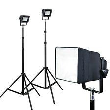 PBL LED Compact Portable Photo Video Softbox Light Kit Metal Body Construction