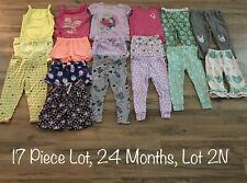 Toddler Girls Clothing Lot, 17 Items, 24 Months, Carter's, Okie Dokie, Circo