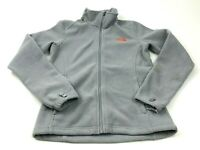 The North Face Sweater Jacket Women's Size Small S Gray Orange Full Zip Fleece