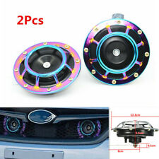 2Pcs Car Modification Grille Mount Super Loud Tones Compact Electric Blast Horn
