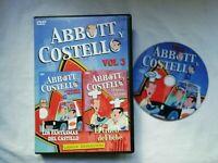 Abbott Y Costello Lunga Durata DVD Film Vol3 Spagnolo Pal Usato
