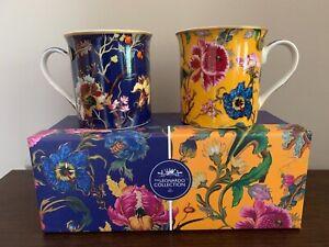 Set of 2 Mugs William Morris Anthina Floral Leonardo & Gift Box Coffee Tea Cup