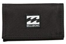Tag Billabong Atom Tri-fold Boys Mens Kids Wallet Surf Black Polyester