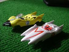 2 New Autoworld Speed Racer Set Car HO Tjet Slot Ca Bodies Run on Aurora AFX