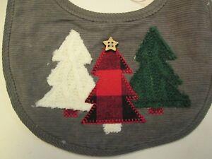 Christmas Tree Bib by Mud Pie, NWT