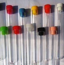 10 x plastic test tubes with tops, 20 ML volume, New unused-150 x 17 mm Ø at rim