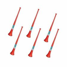 Vuvuzela - South African Style Collapsible Horn Red (Pack of 6) Free Shipping