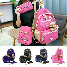 3 Fashion Women Girls Travel Canvas Rucksack Backpack School Shoulder Bag New