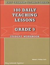Easy Grammar Ultimate Series: 180 Daily Teaching Lessons Grade 9 Workbook