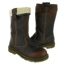 Dr. Martens Rosa Women's Brown Fur-Lined Safety Boots Steel Toe Size 9