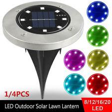 8/12/16/20LED Solar Buried Light Waterproof Underground Lamp Pathway Garden Set