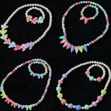 Children's Jewelry Kids Set Baby Necklace Bracelet Colorful Beads Xmas Gift New