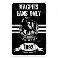 Official AFL Collingwood Magpies Obey The Rules Retro Metal Sign Decoration