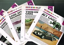 LAND SPEED Record BROCHURES / Articles Collection: Jet Cars,THRUST SST,BUD,Noble