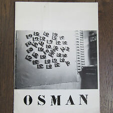 CATALOGUE EXPOSITION OSMAN 1978 GALERIE CHARLEY CHEVALIER