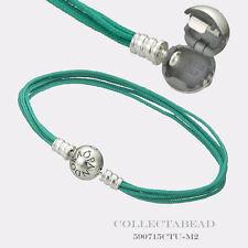 "Authentic Pandora Sterling Silver Teal Multi-Strand Color Cord 6.7"" 590715CTU-M1"