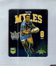 TIP TOP NRL 2013 RUGBY LEAGUE FOOTY SUPERSTARS CARD #10 NATE MYLES, TITANS
