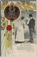 "Prägedruck-Ansichtskarte ""Alt-Heidelberg"" gelaufen 1903 -08251-"