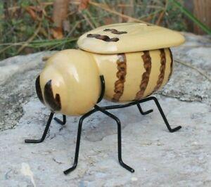 super pot a miel en forme d abeille ( holland ) vintage