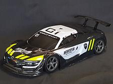 """RC CAR KAROSSERIE 1:10 """"RENAULT RS 01 GT"""" IN SCHWARZ 195MM BREIT # JLR22"""
