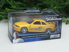 JADA 1/32 Movie Car Fast & Furious LEONS Nissan Skyline GT-R (R33) Yellow 1995