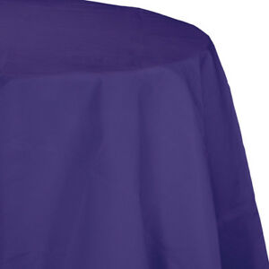 """Purple 2/Ply Paper-Poly Round Tablecloth 82"""" Tableware Supplies Decorations"""
