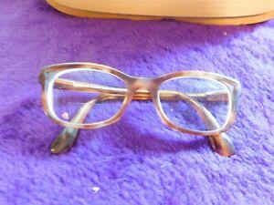 Prada Tortoise Acetate W Gold Glasses Made In Italy VPR 05P 50 18 4BW-101 140
