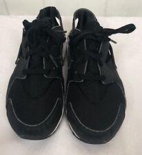 Nike Huarache Run PS Black White Boys size 3Y Sneakers