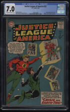 Justice League of America #22 CGC 7.0 Cr-OW Pages Justice Society Cross Over