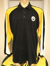 NFL Team Apparel Pittsburgh Steelers Men's Polo Golf Shirt Large