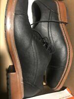 Mens Sz 7.5 Perry Ellis Portfolio American Sterling Oxford Black Dress Casual