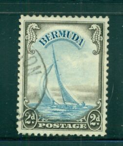 "BERMUDA 109 SG112 Used 1938 2p blue & sepia Defin Yacht ""Lucie"" Cat$16"