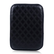 Universal Black Soft Car Leather Armrest Pad Center Console Box Cover Cushion