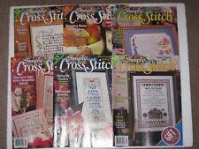 Lot Of 6 Simply Cross Stitch Magazines 1990's