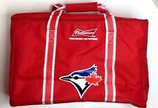 Toronto Blue Jays Budweiser Red Insulated Zip Cooler Bag 24 Cans Beer Fish Hunt