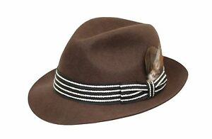 *SALE* BRAND NEW BROWN COLOUR WOOL TRILBY FASHION FEDORA CHICAGO HAT