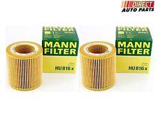 2 - BMW OE# 11427566327 MANN HU 816 X Engine Oil Filter