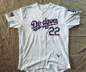 Los Angeles Dodgers Clayton Kershaw 22 American Flag Majestic Jersey 52 XXL VTG