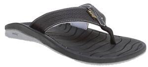 Reef SWELLULAR CUSHION LUX Black Grey Water Friendly Sandals Men's Flip Flops