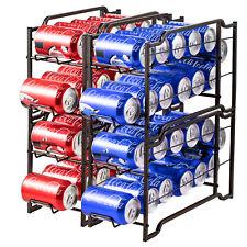 4 Pack Stackable Soda Can Beverage Dispenser Rack Can Storage Organizer Holder