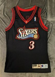 ALLEN IVERSON Philadelphia 76ers TEAM ISSUED 1997-98 Champion Jersey Game Used